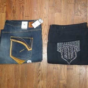 Lot of 2 Pelle Pelle Jeans Size 50x34